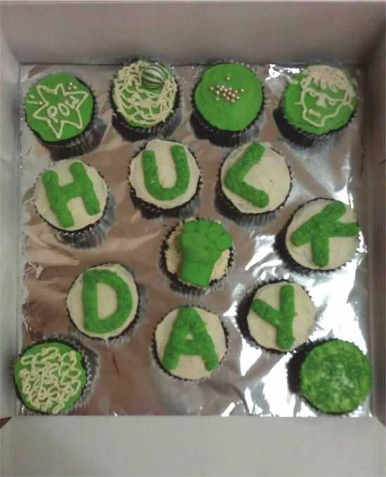 hulk cupckaes